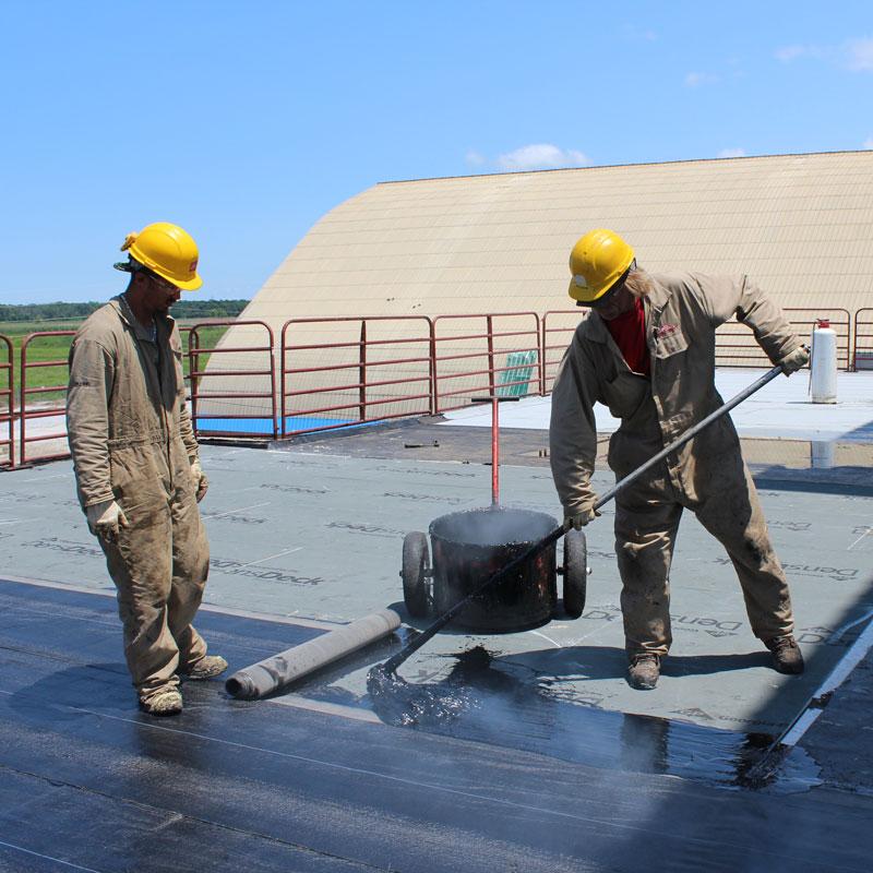 flat roof industrial